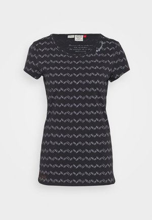 ZIG ZAG - Print T-shirt - black