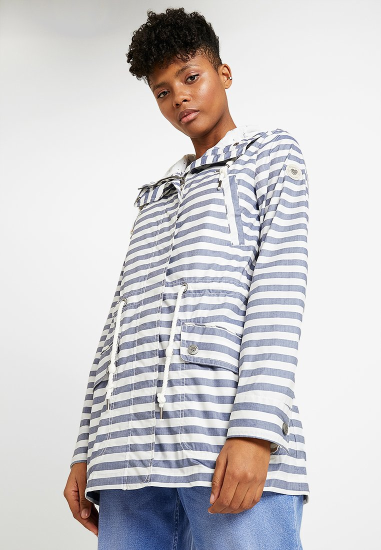 Ragwear - BARUNKA STRIPES - Summer jacket - navy
