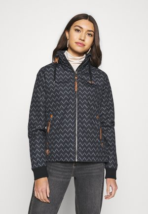 APOLI ZIG ZAG - Summer jacket - black