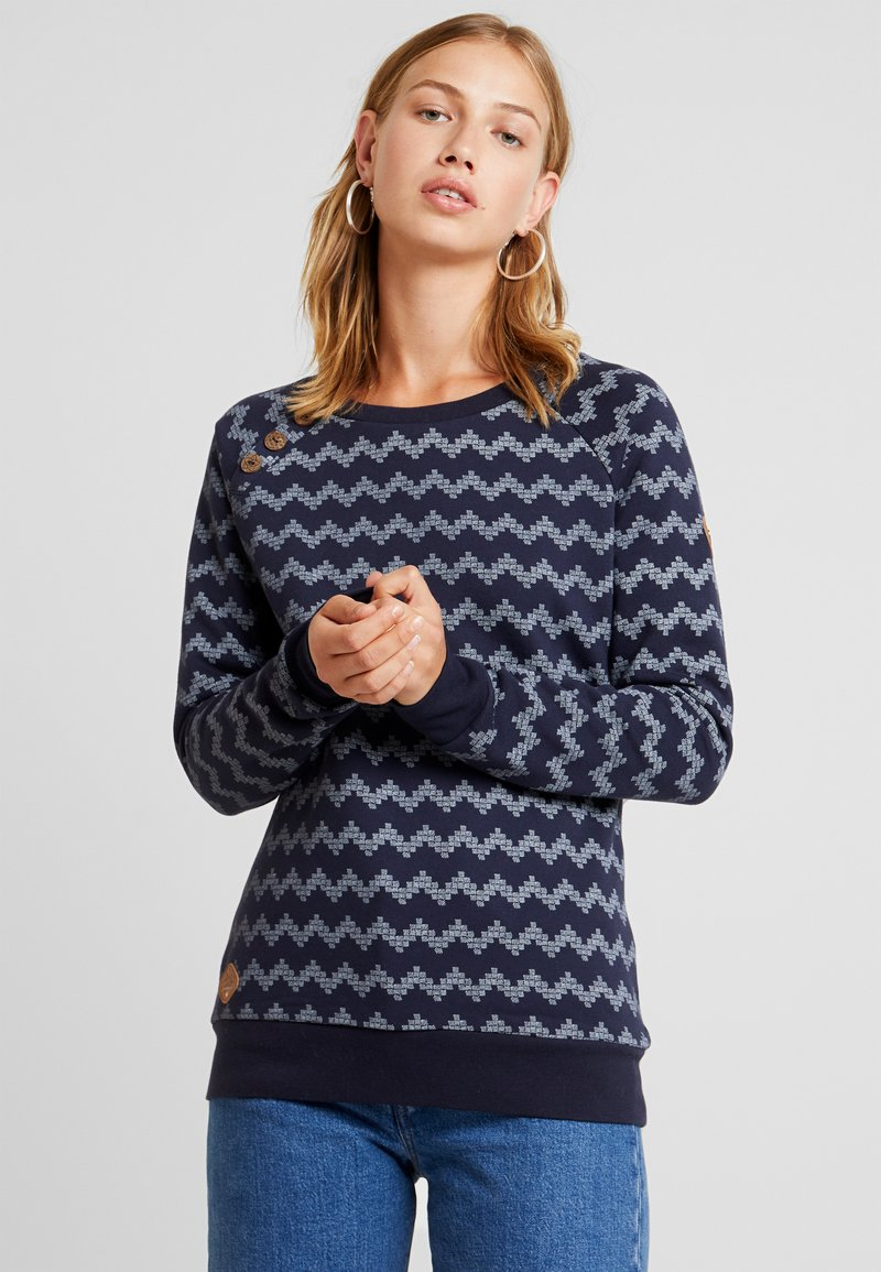 Ragwear - DARIA ZIG ZAG - Sweater - navy