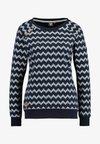 DARIA ZIG ZAG - Sweater - navy