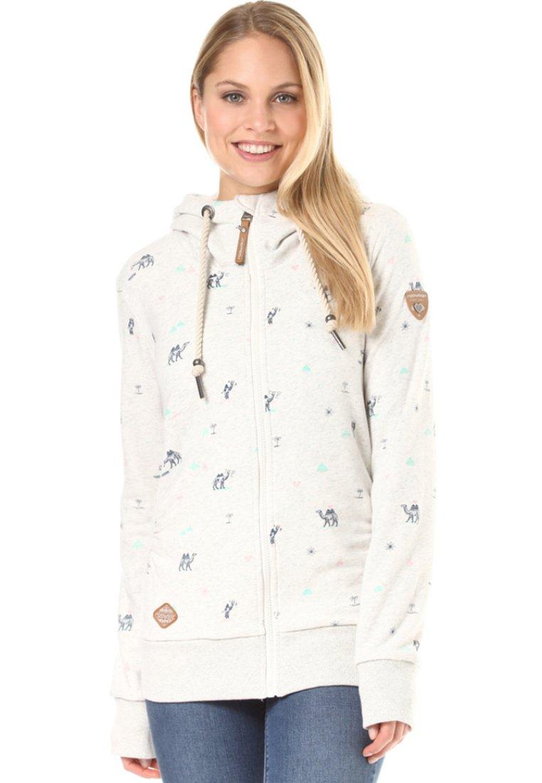 Ragwear - Zip-up hoodie - white