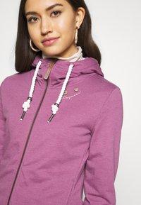 Ragwear - PAYA - veste en sweat zippée - lilac - 4