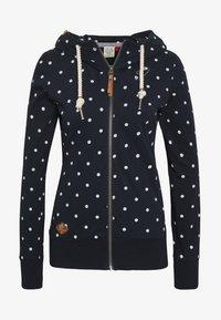 Ragwear - PAYA DOTS - Zip-up hoodie - navy - 6