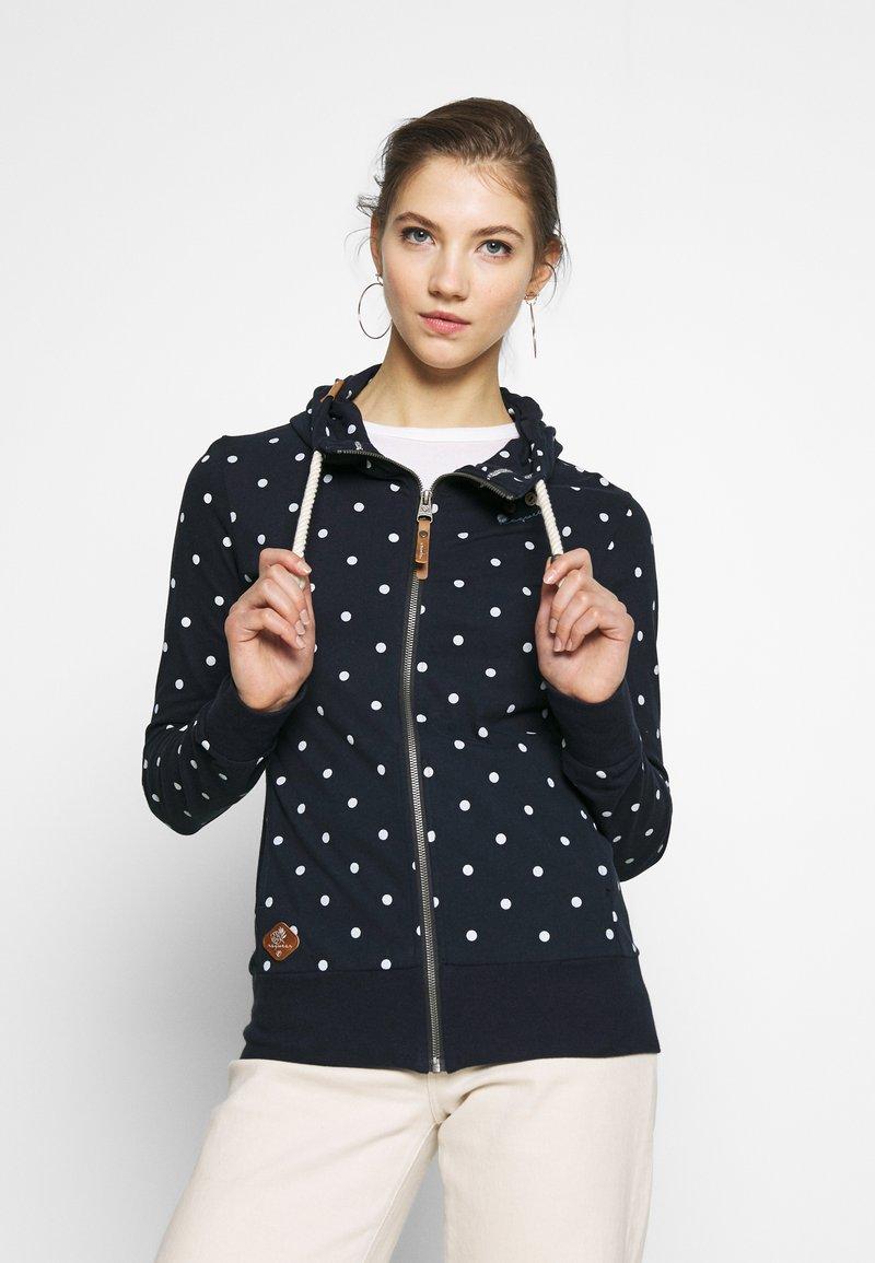 Ragwear - PAYA DOTS - Zip-up hoodie - navy