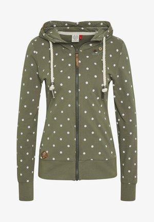 PAYA DOTS - Zip-up hoodie - olive