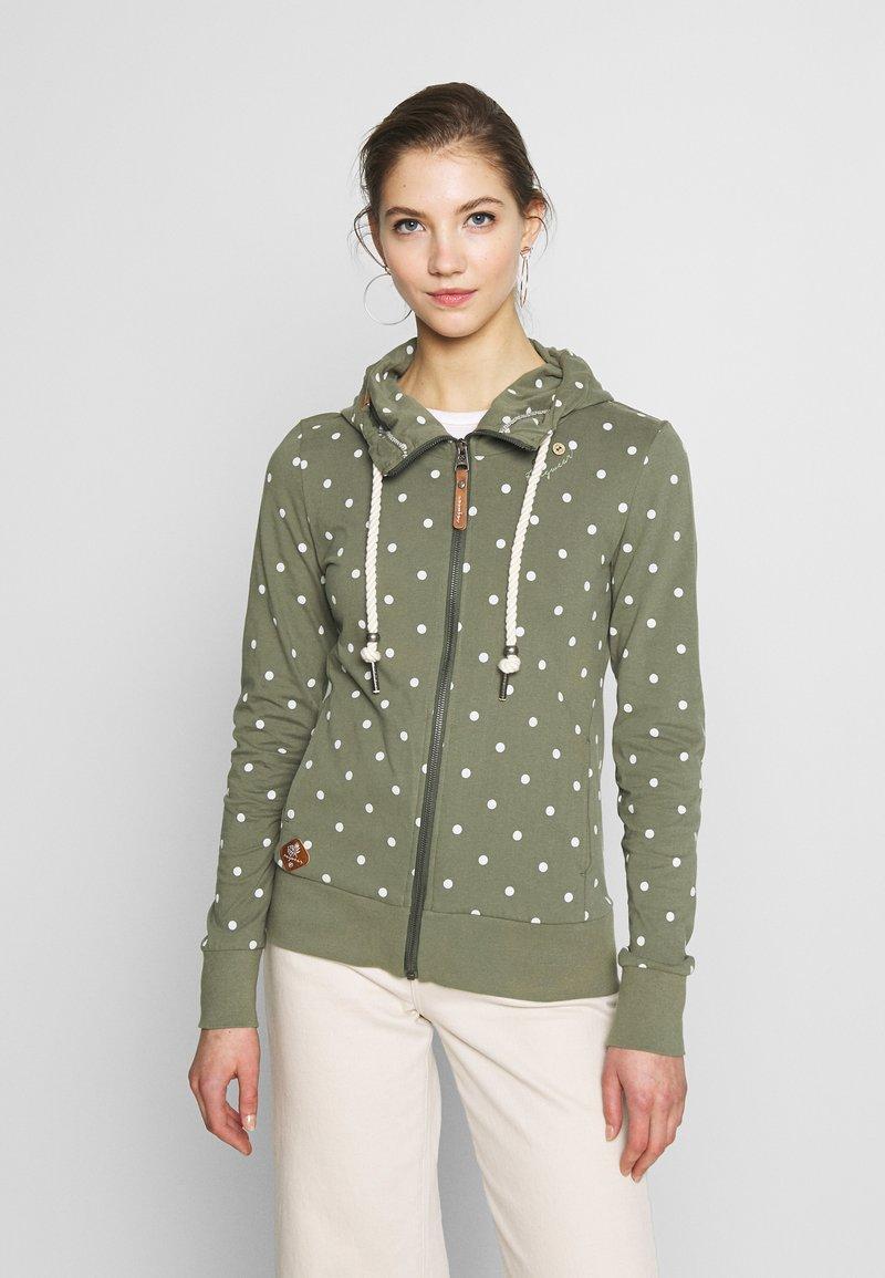 Ragwear - PAYA DOTS - Zip-up hoodie - olive