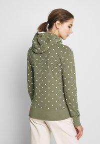 Ragwear - PAYA DOTS - Zip-up hoodie - olive - 2