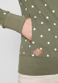 Ragwear - PAYA DOTS - Zip-up hoodie - olive - 5