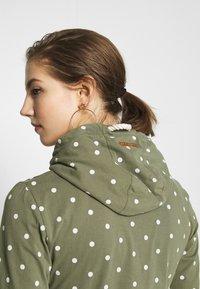 Ragwear - PAYA DOTS - Zip-up hoodie - olive - 4