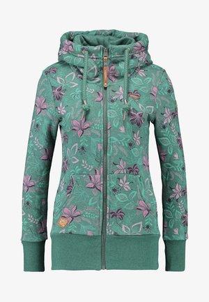 NESKA FLOWERS ZIP - Hoodie met rits - green