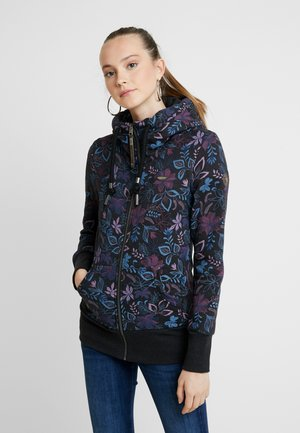 NESKA FLOWERS ZIP - Zip-up hoodie - black