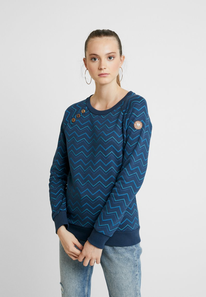 Ragwear - DARIA ZIG ZAG - Sweater - denim blue