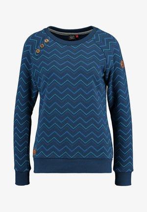 DARIA ZIG ZAG - Sweater - denim blue