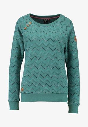 DARIA ZIG ZAG - Sweatshirt - green