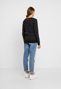 Ragwear - DARIA ZIG ZAG - Sweatshirt - black - 2
