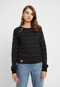 Ragwear - DARIA ZIG ZAG - Sweatshirt - black - 0