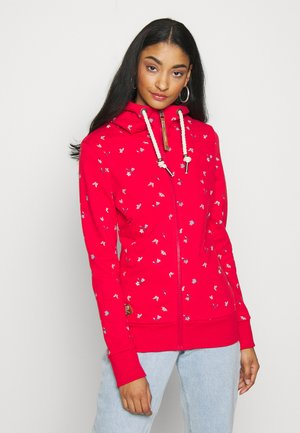 ZIP - Zip-up hoodie - red
