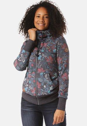 RAGWEAR KAPUZENJACKE NESKA FLOWERS ZIP - Zip-up hoodie - blue
