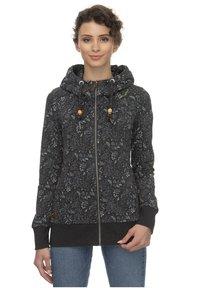 Ragwear - RAGWEAR KAPUZENJACKE LIBERTY B ORGANIC - Zip-up hoodie - black - 0