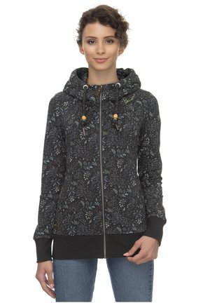 RAGWEAR KAPUZENJACKE LIBERTY B ORGANIC - Zip-up hoodie - black