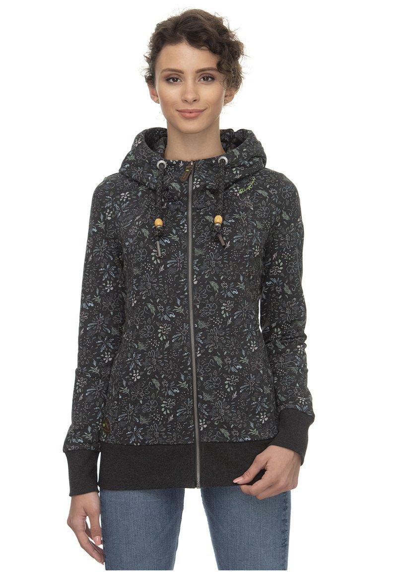 Ragwear - RAGWEAR KAPUZENJACKE LIBERTY B ORGANIC - Zip-up hoodie - black