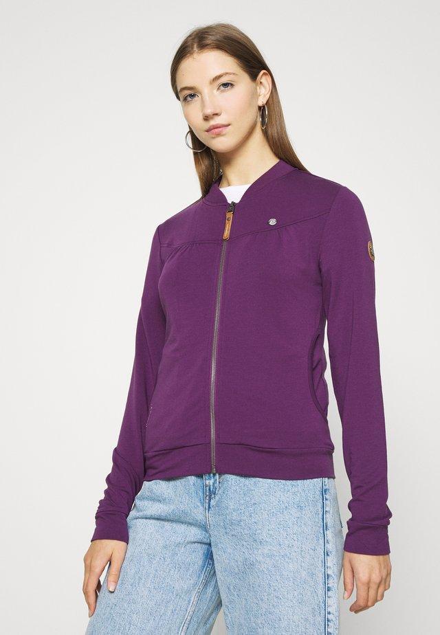 KENIA - Mikina na zip - purple