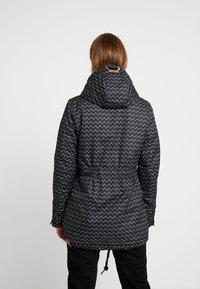 Ragwear - ZUZKA ZIG ZAG - Classic coat - black - 2