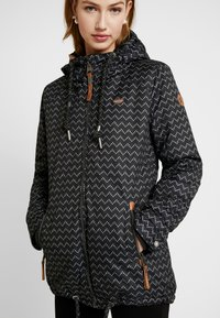 Ragwear - ZUZKA ZIG ZAG - Classic coat - black - 3
