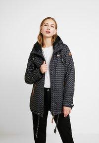 Ragwear - ZUZKA ZIG ZAG - Classic coat - black - 0