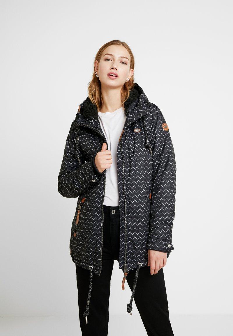 Ragwear - ZUZKA ZIG ZAG - Classic coat - black