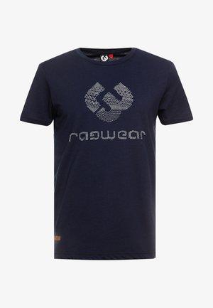 CHARLES - T-shirt imprimé - navy
