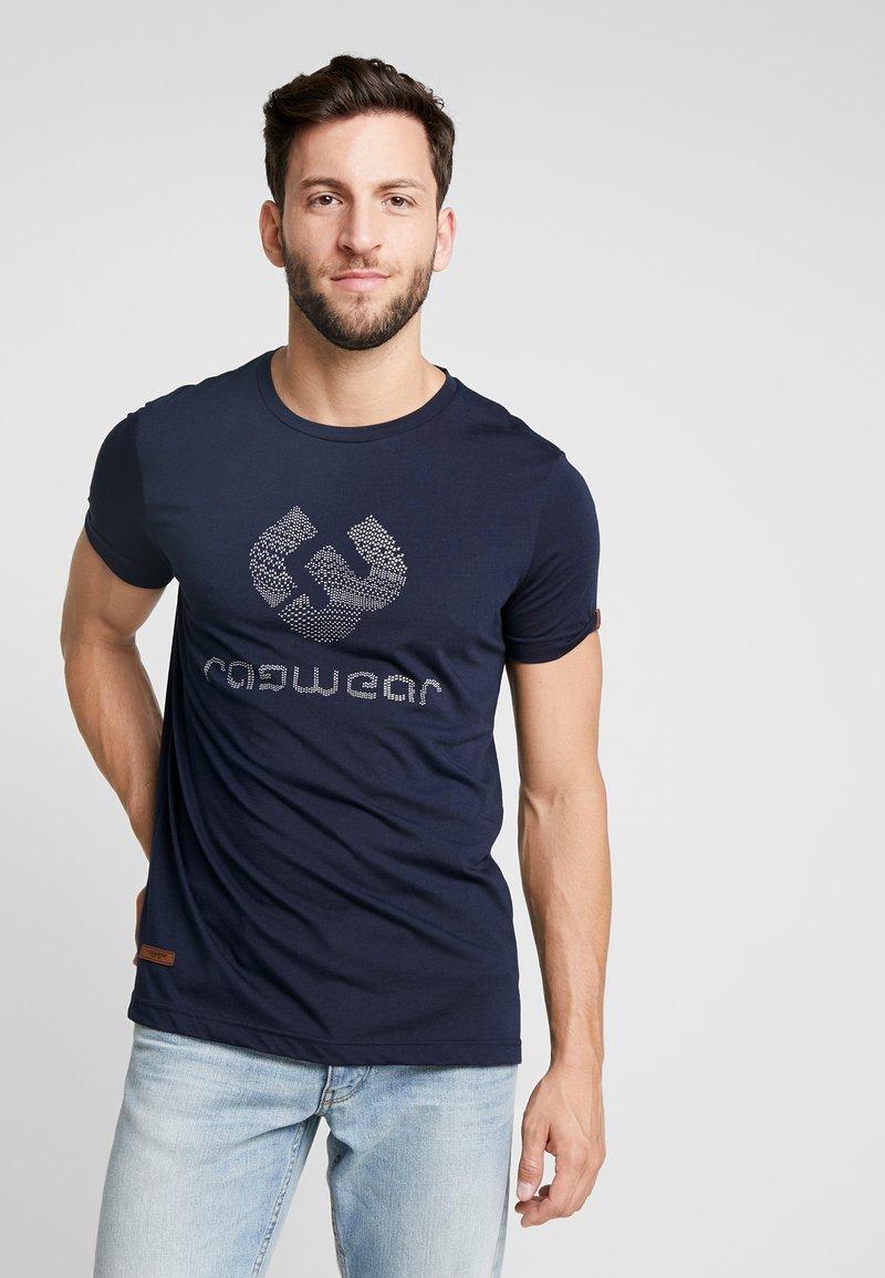Ragwear - CHARLES - Camiseta estampada - navy