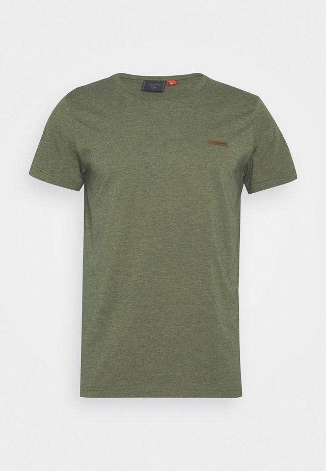 NEDIE - Basic T-shirt - olive