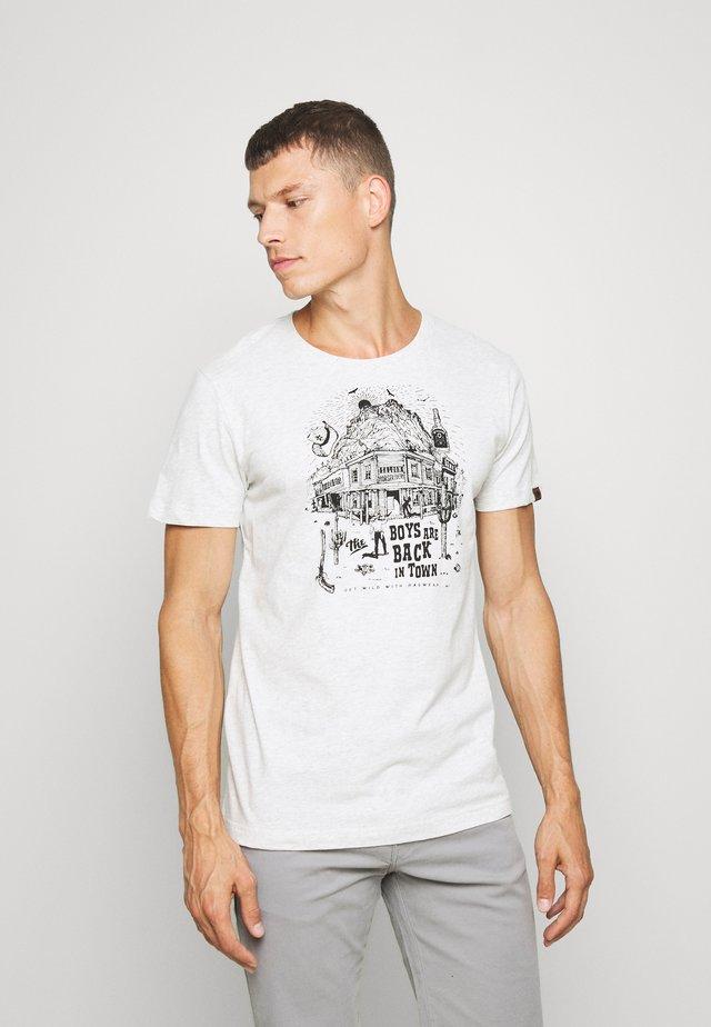 KEETON - Printtipaita - white