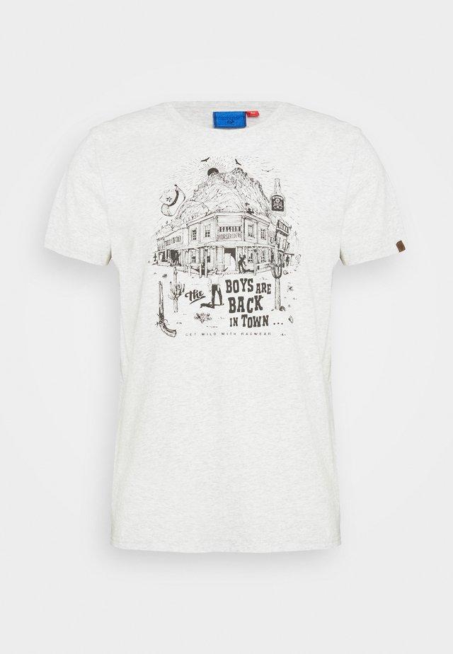 KEETON - T-shirt imprimé - white