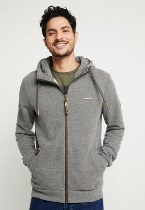NATE ZIP - Mikina na zip - grey