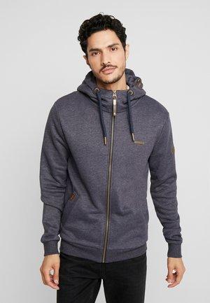 NATE ZIP - Zip-up hoodie - navy