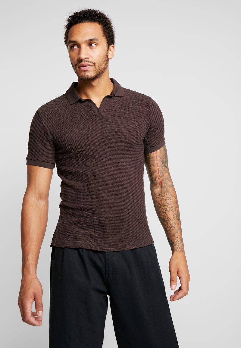 Resteröds - CUBAN - Poloshirt - black coffé