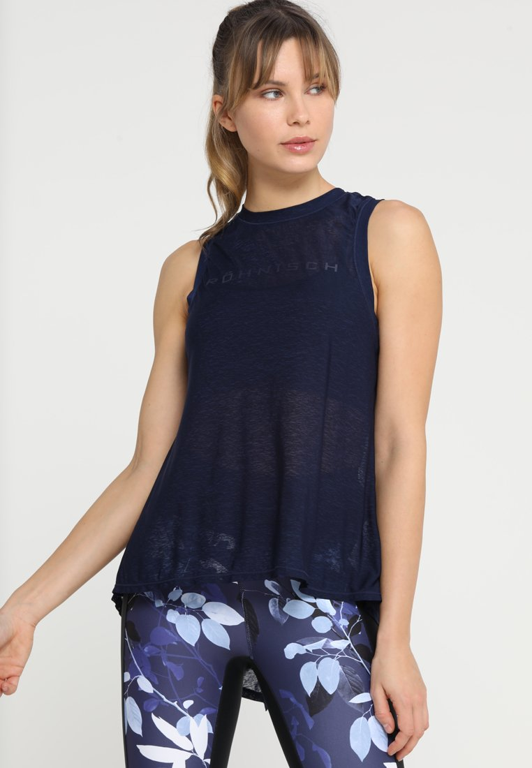 Röhnisch - OPEN BACK SINGLET - Topper - indigo night