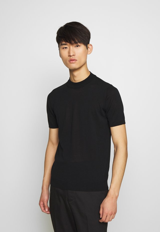 TURTLE NECK - T-shirt - bas - nero