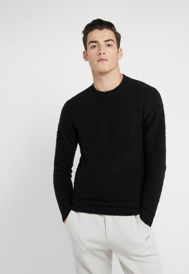 Roberto Collina - CREW NECK - Jumper - black