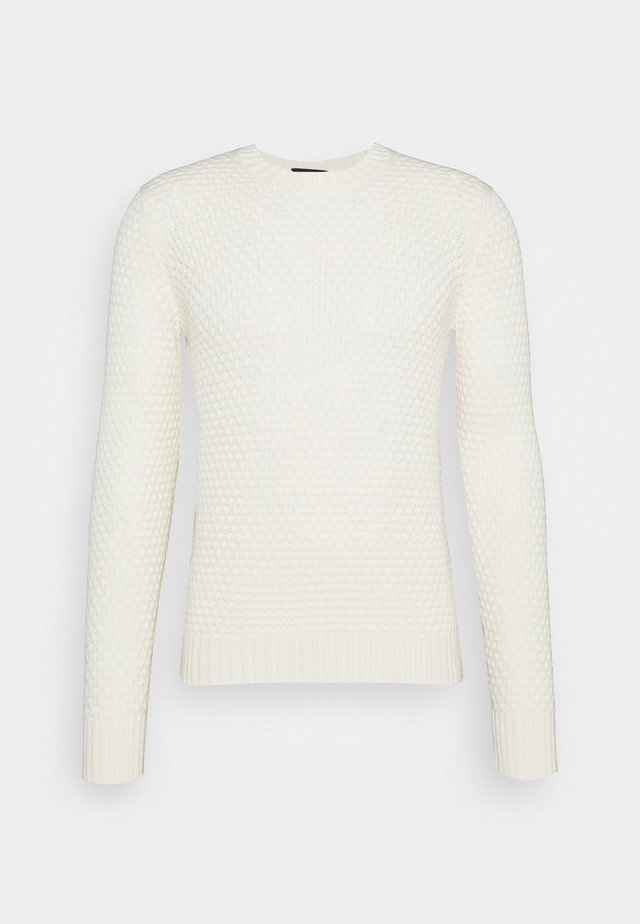 GIROCOLLO LOSANGHE - Stickad tröja - ecru