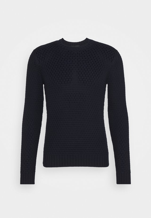 GIROCOLLO LOSANGHE - Stickad tröja - navy