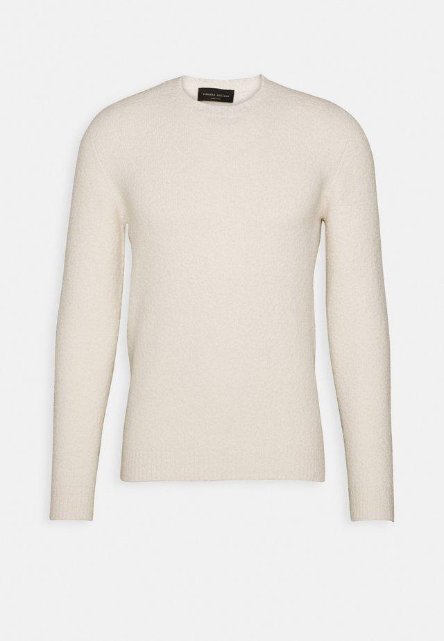 GIROCOLLO - Stickad tröja - bianco