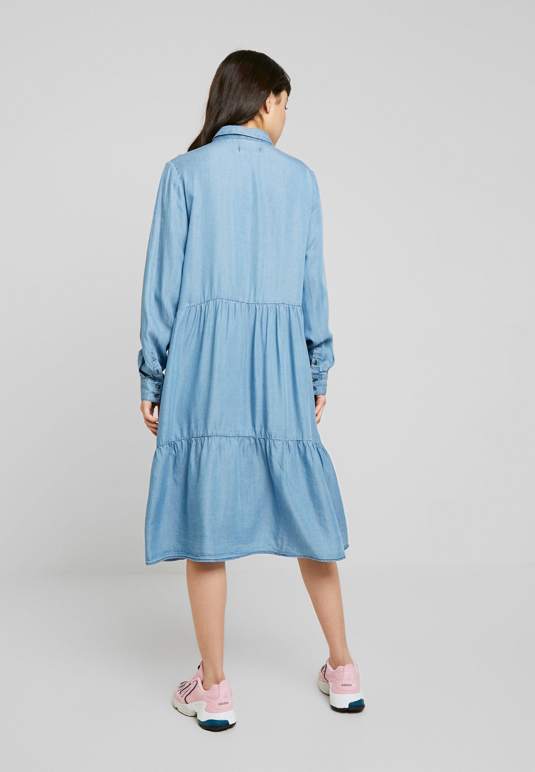 Soft Rebels Moira Ls Dress - Robe Chemise Dark Blue f56Z4bI