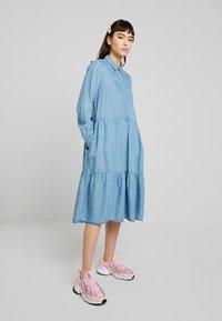 Soft Rebels - MOIRA LS DRESS - Paitamekko - dark blue - 0