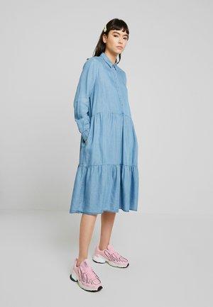 MOIRA LS DRESS - Skjortklänning - dark blue