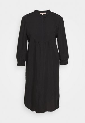 NELLY 3/4 LONG - Shirt dress - black