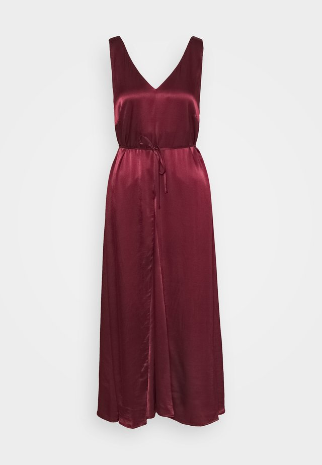 SHANIA MIDI DRESS - Galajurk - tawny port